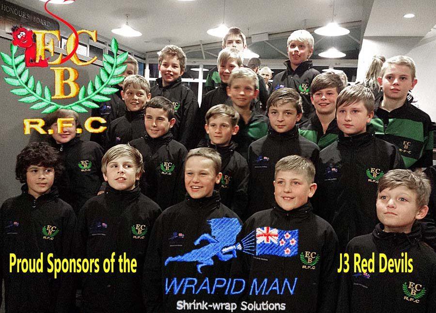 wrapid man sponsors children's rugby team