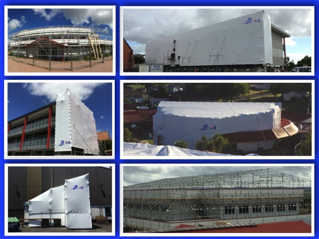 examples of building shrink wrap
