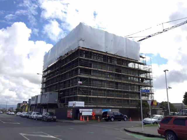 apartment construction wrap