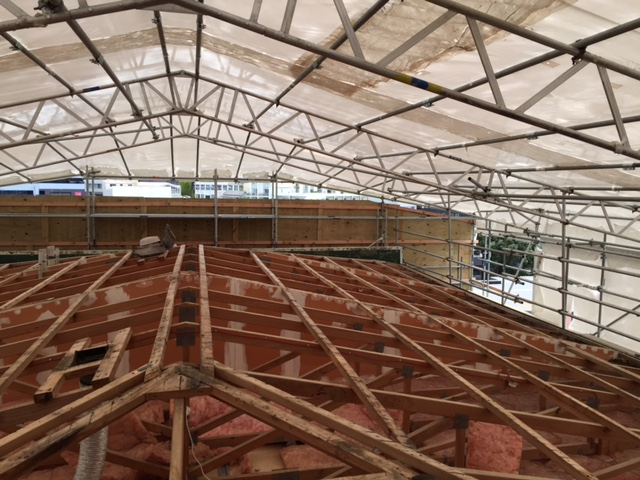 roof plastic wrap, weather protection wrap