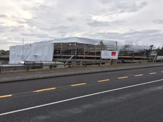 commercial building shrink wrap, construction wrap