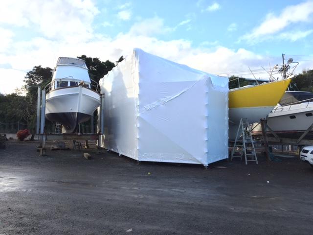 marine wrap, boat wrap, boat protection