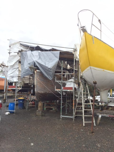 wrapping a boat