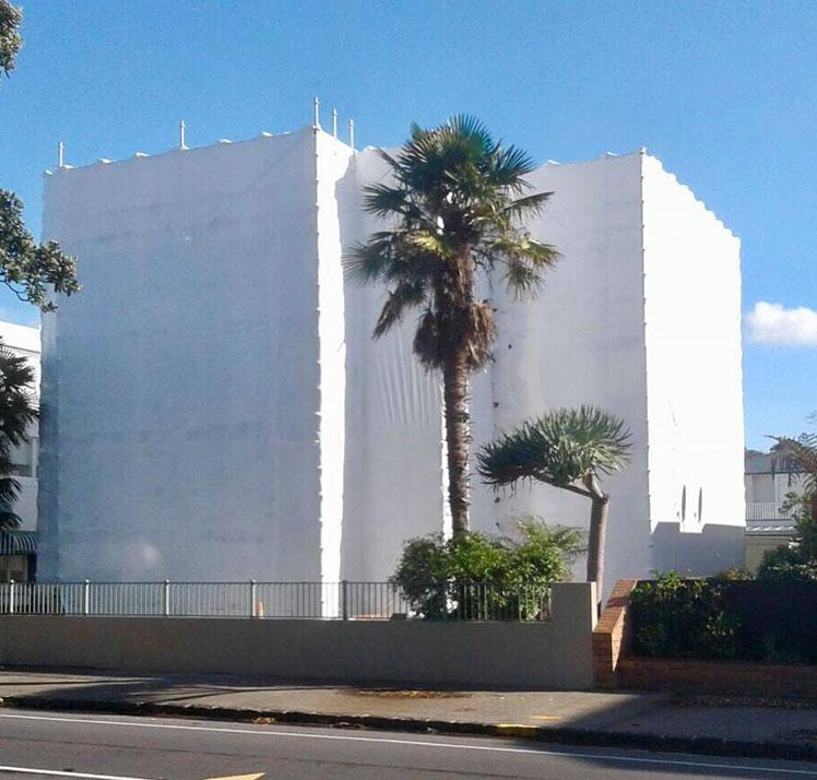 exterior building wrap